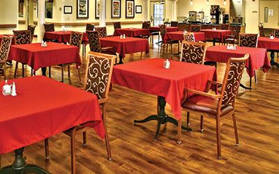 Dining hall amenities